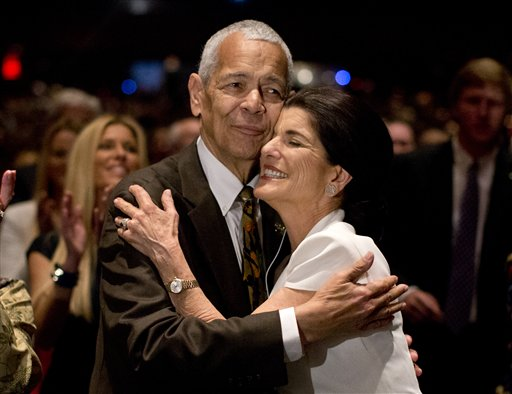 Julian Bond and Luci Baines Johnson