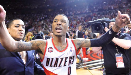 Lillard after shooting winning basket