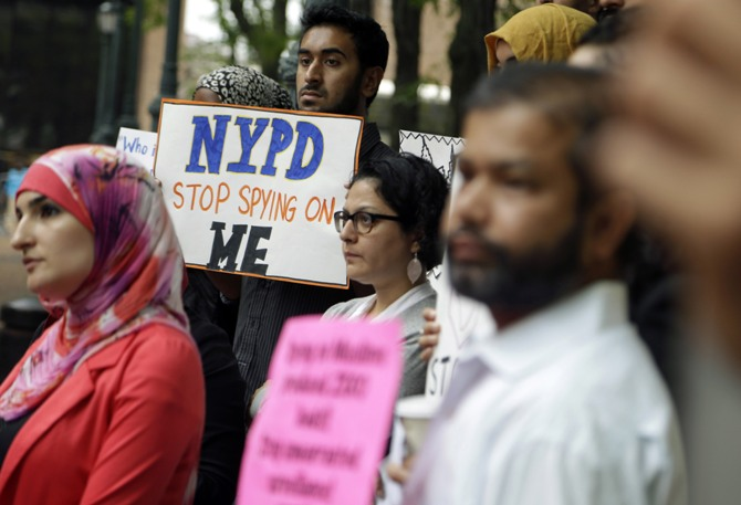 NYPD spying protest