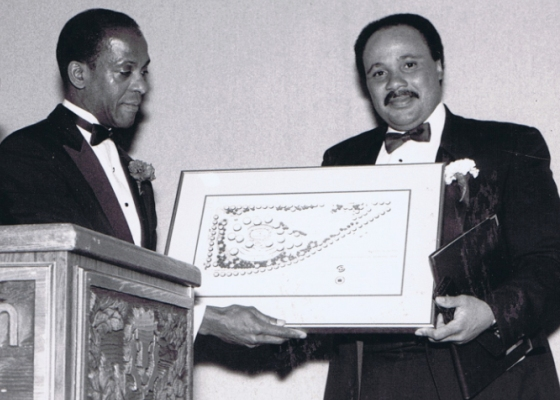 Herman McKinney with Martin Luther King III