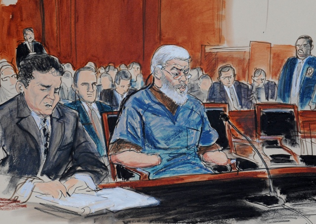 Courtroom sketch of Mustafa Kamel Mustafa