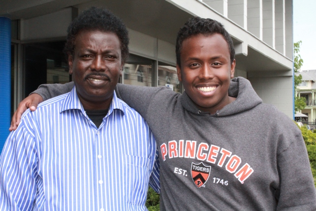 Ahmed Gedi with his father Dawood Mohamed
