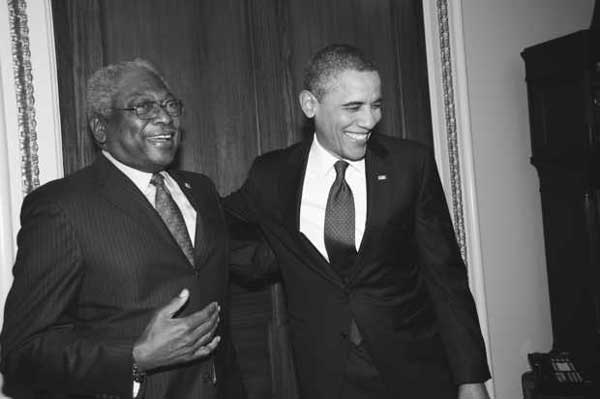 Congressmen James Clyburn with President Obama