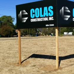Colas sign on vacant MLK lot