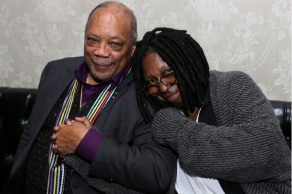 Quincy Jones and Whoopi Goldberg