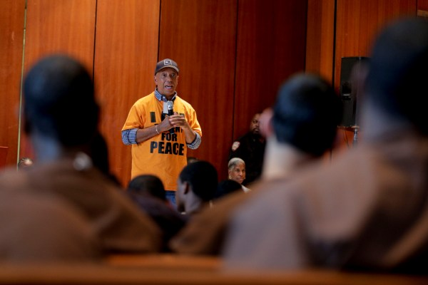 Russell Simmons speaks to youth inmates