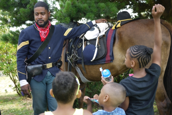 Buffalo soldier at Umojafest