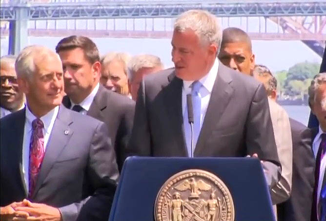 Portland Mayor Charlie Hales and NYC Mayor Bill de Blasio