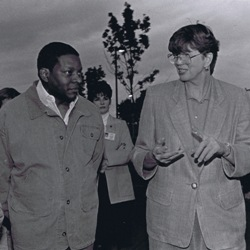 Portland Police Chief Charles Moose and US Attorney General Janet Reno in the King Neighborhood