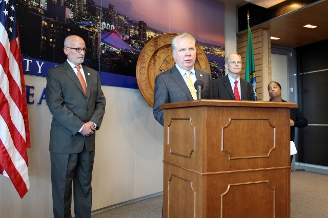 Seattle Mayor Ed Murray at a press conference about education and achievement gaps