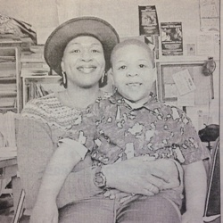 Kendra Rosser and her son Kevin