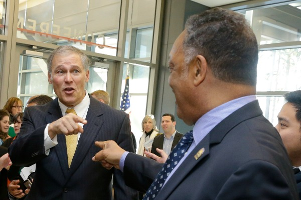 Rev Jesse Jackson meets with Governor Inslee