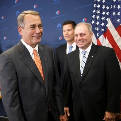 Steve Scalise speaks to reporters