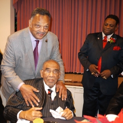 Rev. Jesse Jackson with Rev. Dr. Samuel B. McKinney in Seattle