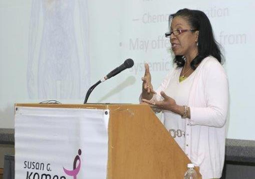 Nathalie Johnson speaks at Komen Breast Cancer Issues Conference
