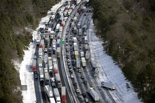 Atlanta motorists are stranded amid storm