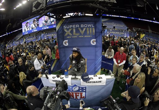 Superbowl Media Day brought 6,000 people to New Jersey's Prudential Center