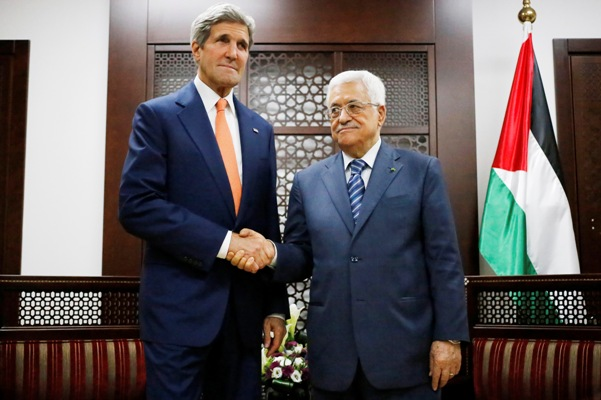 John Kerry with Mahmoud Abbas