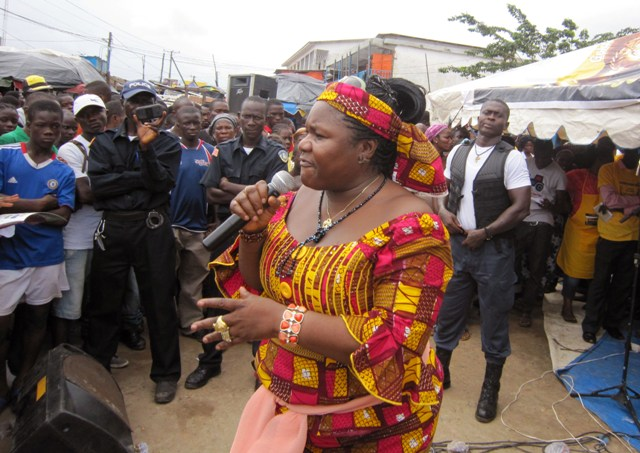 Crusaders for Peace spokesperson Juli Endee educates people on Ebola