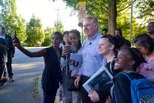 "Ed Murray with supporters on ""Find it Fix it"" walk"