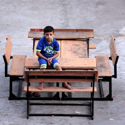 Palestinian child in Gaza