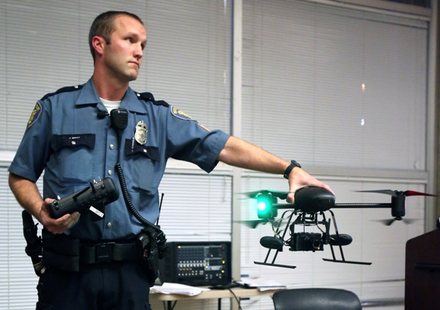 Police officer with Drone