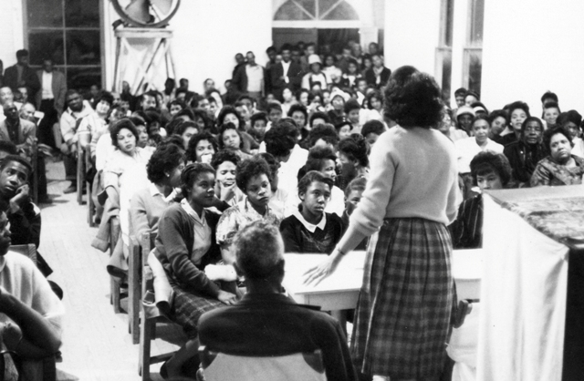 people participate in Freedom Summer activities