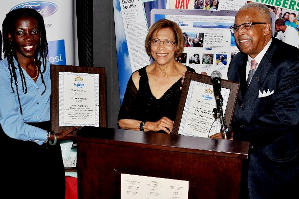 JoAnn Hardesty and LeRoy Haynes awarded