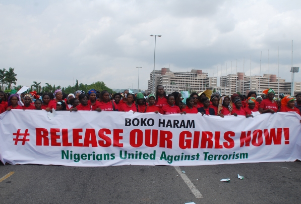 Nigeria girls protest against boko haram