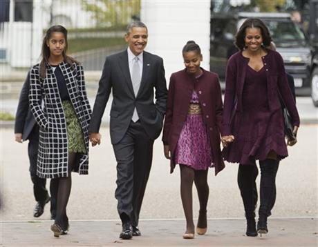 The President with his family