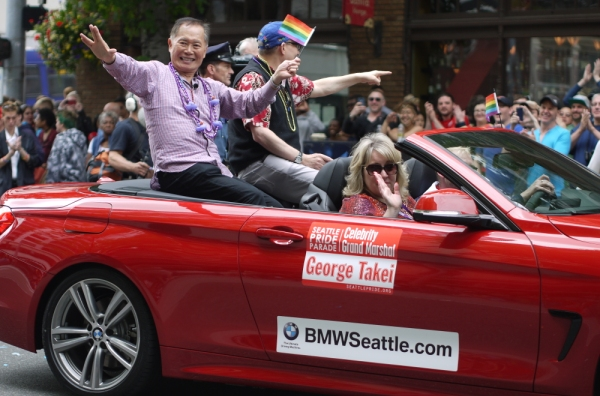 George Takei leads Seattle Pride parade