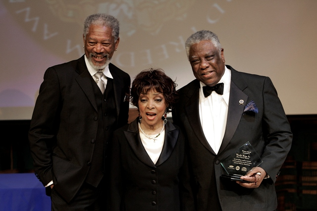 Morgan Freeman Ruby Dee accepting for her husband Ossie Davis