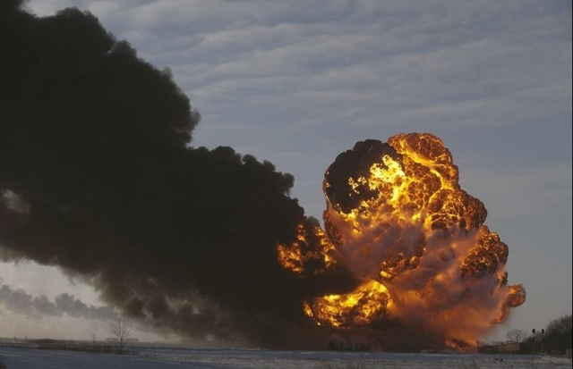 Oil train derailment in Casselton
