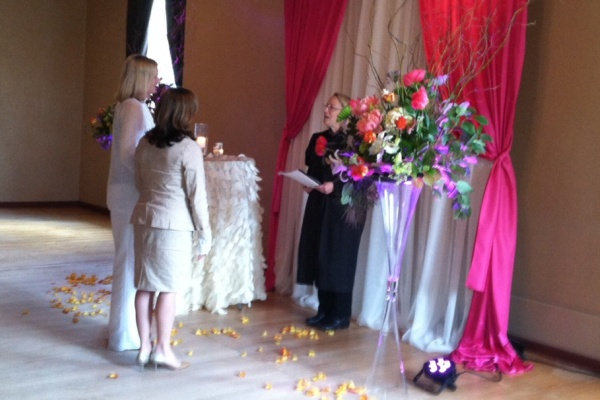 Julie Bloom and Laura Brown marry
