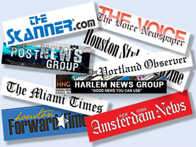 Black Newspapers mastheads