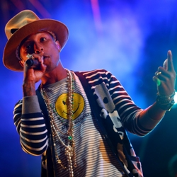 Pharrell performs at Coachella