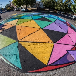 street intersection art