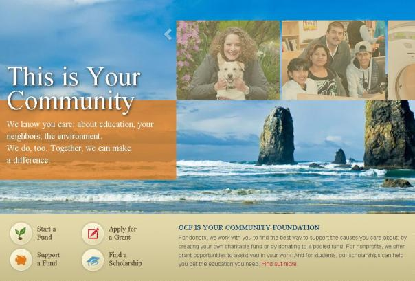 Oregon Community Foundation website grab