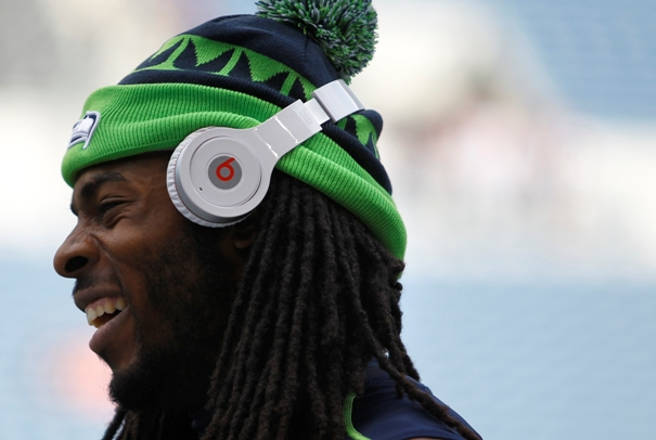 Richard Sherman wearing Beats