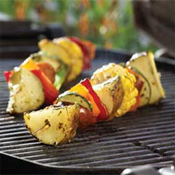 potato and vegetable skewer