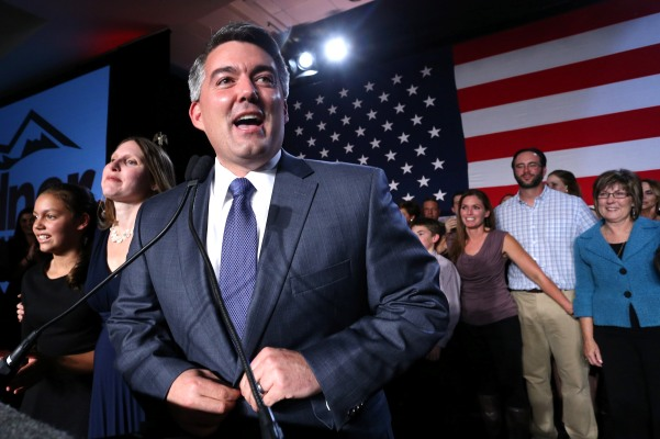 Newly elected Colorado Sen. Cory Gardner