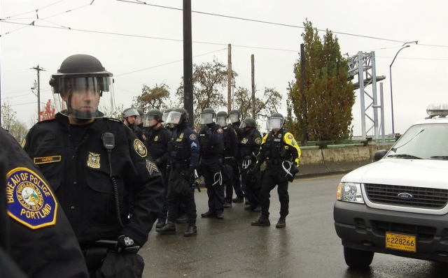 Portland Police at the 2011 Occupy Portland protests