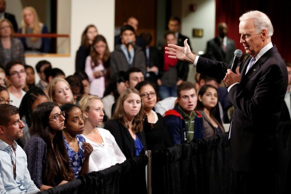 VP Joe Biden speaking to students at Harvard