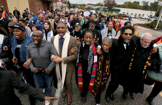 Ferguson protest with Cornell West