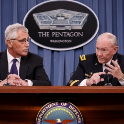 Chuck Hagel and Martin Dempsey