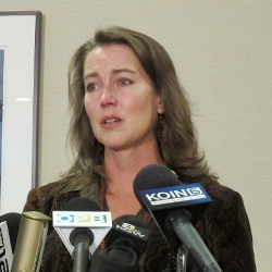 Cylvia Hayes at press conference Oct. 2014