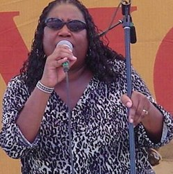 Linda Hornbuckle performing
