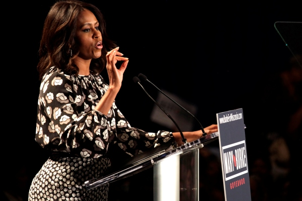Michelle Obama on campaign trail