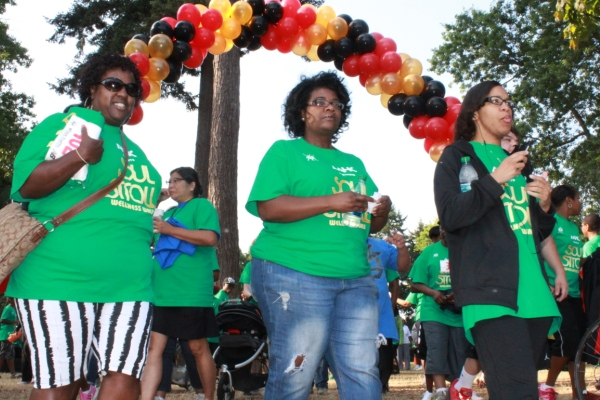 Women take part in the Portland African American Health Coalition Soul Stroll
