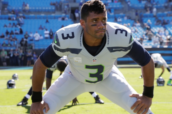 Russell Wilson before a game